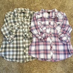 2 for $22 Torrid Button Up Shirts, size 1 (1X)